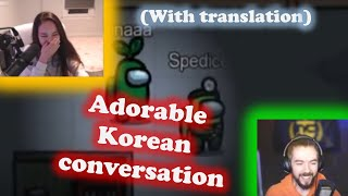 jacksepticeye and TinaKitten cute conversation in Korean(with translation) |