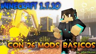 Descarga Minecraft 1.7.10 con 26 mods forge instalado Mods Basicos (ACTUALIZABLE)