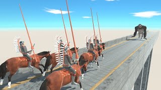HUSSAR Horse Team Charge Attack vs ALL UNITS on Sky Bridge Animal Revolt Battle Simulator