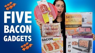 TESTING 5 BACON GADGETS - DO THEY WORK??