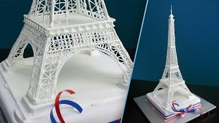 Eiffel Tower Cake Topper Tutorial