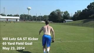 Wil Lutz 65 yard field goal | Team Jackson Kicking Camps
