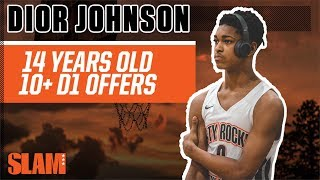 SHIFTY 14-Year-Old Dior Johnson has 10+ (!!!) D1 Offers 👀 | SLAM Profiles