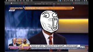 Rob Parker disrespected Kareem Abdul-Jabbar to tear down Lebron.....I don't respect it.