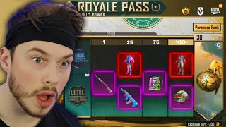 SEASON 18 ROYAL PASS 1-100 is HERE