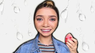 doing my everyday makeup routine while crying LOL