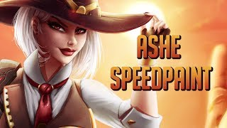 Ashe - Overwatch - Speed Painting FanArt