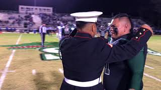 Marine Surprises his Younger Brother senior night at football game
