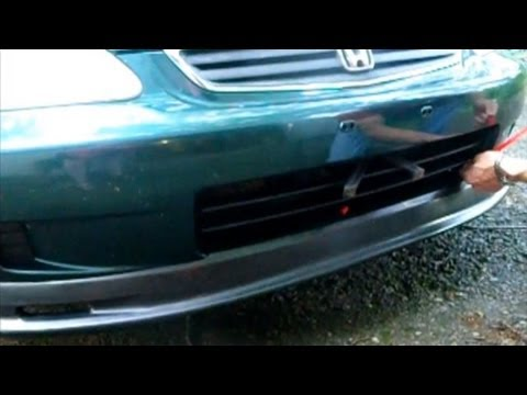 How To Install Front Lip/Chin Spoiler On A Honda Civic ...