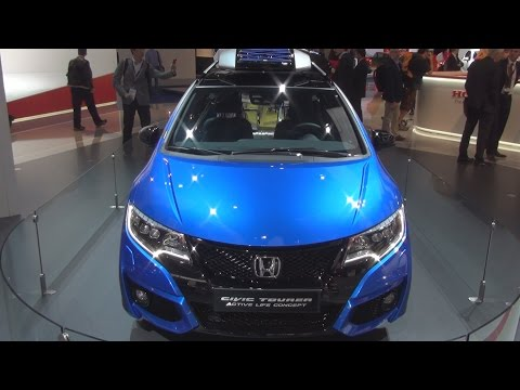 Honda Civic Tourer Active Life Concept (2016) Exterior and Interior in 3D
