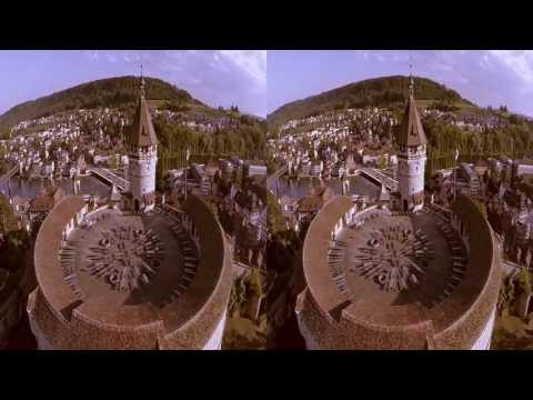 Stereo 3D-Flugaufnahme - Aerial Shot with drone S800, small, fly fully stabilized