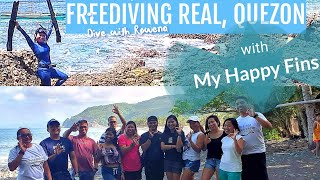 Freediving with a Mission |My Happy Fins group| Real, Quezon