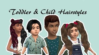 The Sims 4 Custom Content Kids Edition Over 25 Hairstyles Pt2