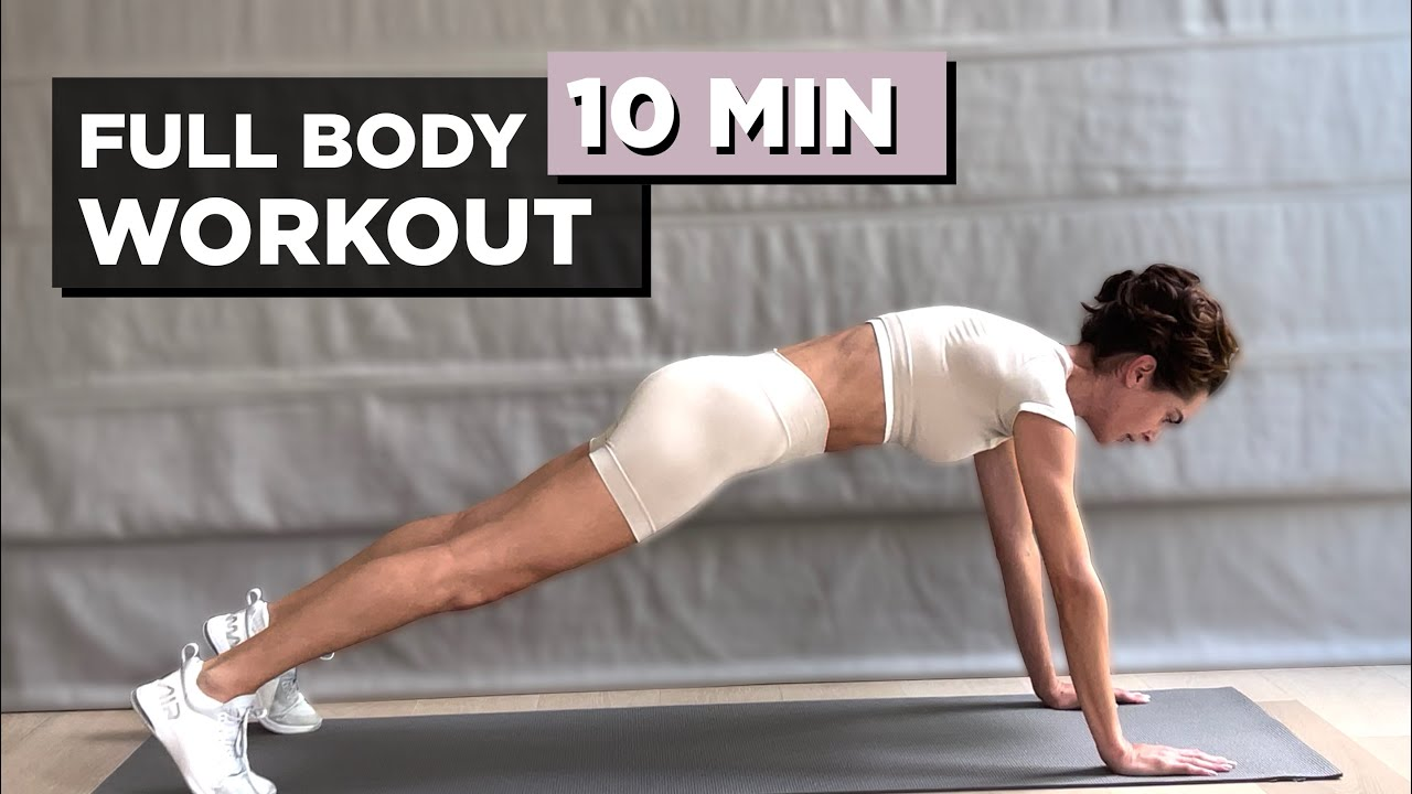10 Min Full Body Workout To Burn Calories - No Equipment Needed