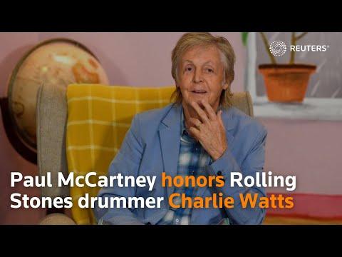 Paul McCartney honors Rolling Stones drummer Charlie Watts