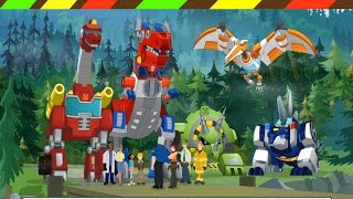 Game robot Khủng long biến hình   Dino Island - Transformers Rescue Bots