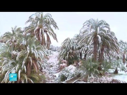 تساقط للثلوج في الصحراء المغربية