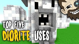 Minecraft: TOP 5 Diorite Uses | Challenged from viewers!
