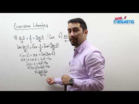Ecuaciones literales 4
