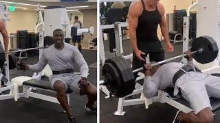 Shannon Sharpe HEAVY Bench Press Day At The Gym, All SETS OVER 300 LBS! #Undisputed #ShannonSharpe