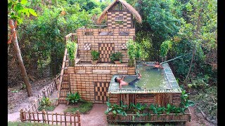 Build Beautiful Swimming pool & House Villa Using wooden in Will