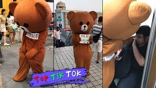 Lovely little bear everyday, TRY NOT TO LAUGH  !  Top Tik Tok memes in China,2018 P61