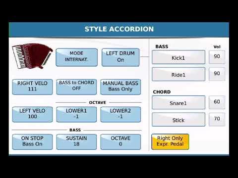SD-90 Digital Accordion Configuration