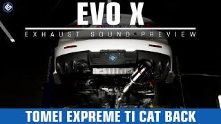 Tomei Expreme Ti Titanium Cat Back EVO X - RallySportDirect.com