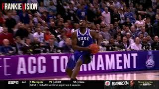 Duke vs North Carolina   Full Game ACC Tournament Highlights 3.15.19