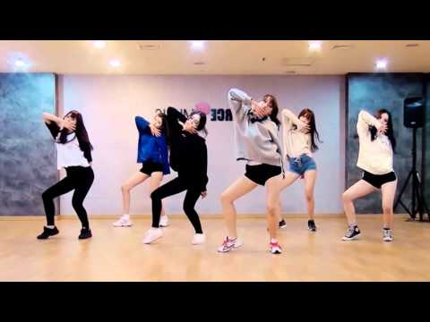 GFRIEND - Rough - mirrored dance practice video - 여자친구 시간을 달려서