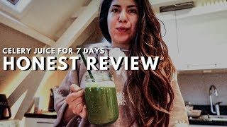 I TRIED CELERY JUICE FOR 7 DAYS, WHAT HAPPEND? Honest review