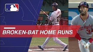 Harper becomes latest to hit broken-bat home run