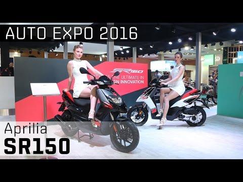 Aprilia SR150 :: 2016 Auto Expo WalkAround Video