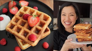 Perfect Waffle Recipe - Crispy & Fluffy - Lockdown Kitchen!