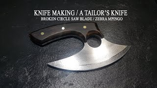 KNIFE MAKING / A TAILOR'S KNIFE 수제칼 만들기#30