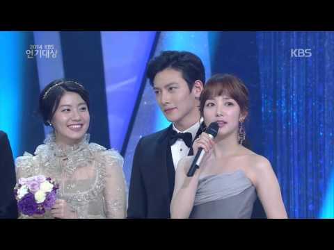 [HIT] KBS 연기대상-베스트 커플상 - 김상경 & 김현주 외.20141231