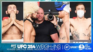 UFC 254 face off and weigh-in highlights: Khabib Nurmagomedov and Justin Gaethje