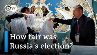 Putin's United Russia wins election after barring opposition | DW News