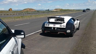 Bugatti Veyron Pulled over by the Washington State Patrol