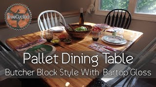 Dining Table Made From Pallets!