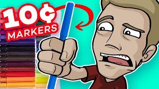 EPIC ART with CHEAP, CRAPPY MARKERS?! - (10¢ Per Marker)