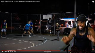 1 Hoopest vs 5 Hoops! Trash Talker Gets MAD After LOSING! 5v5 Basketball At The Park!