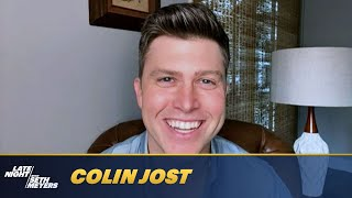 Andy Samberg Interrupts Colin Jost's Interview to Insult Seth's Dog