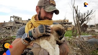 Soldier Saves Puppy Then Realizes He Can't Live Without Her | The Dodo