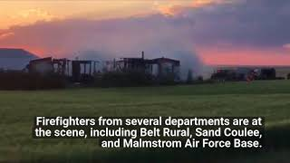 Crews fighting house fire near Belt