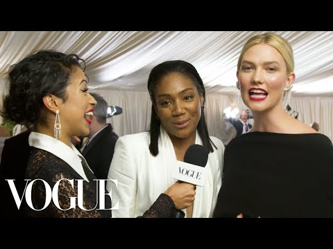 Tiffany Haddish and Karlie Kloss on Dancing With Michael B. Jordan | Met Gala 2018 With Liza Koshy