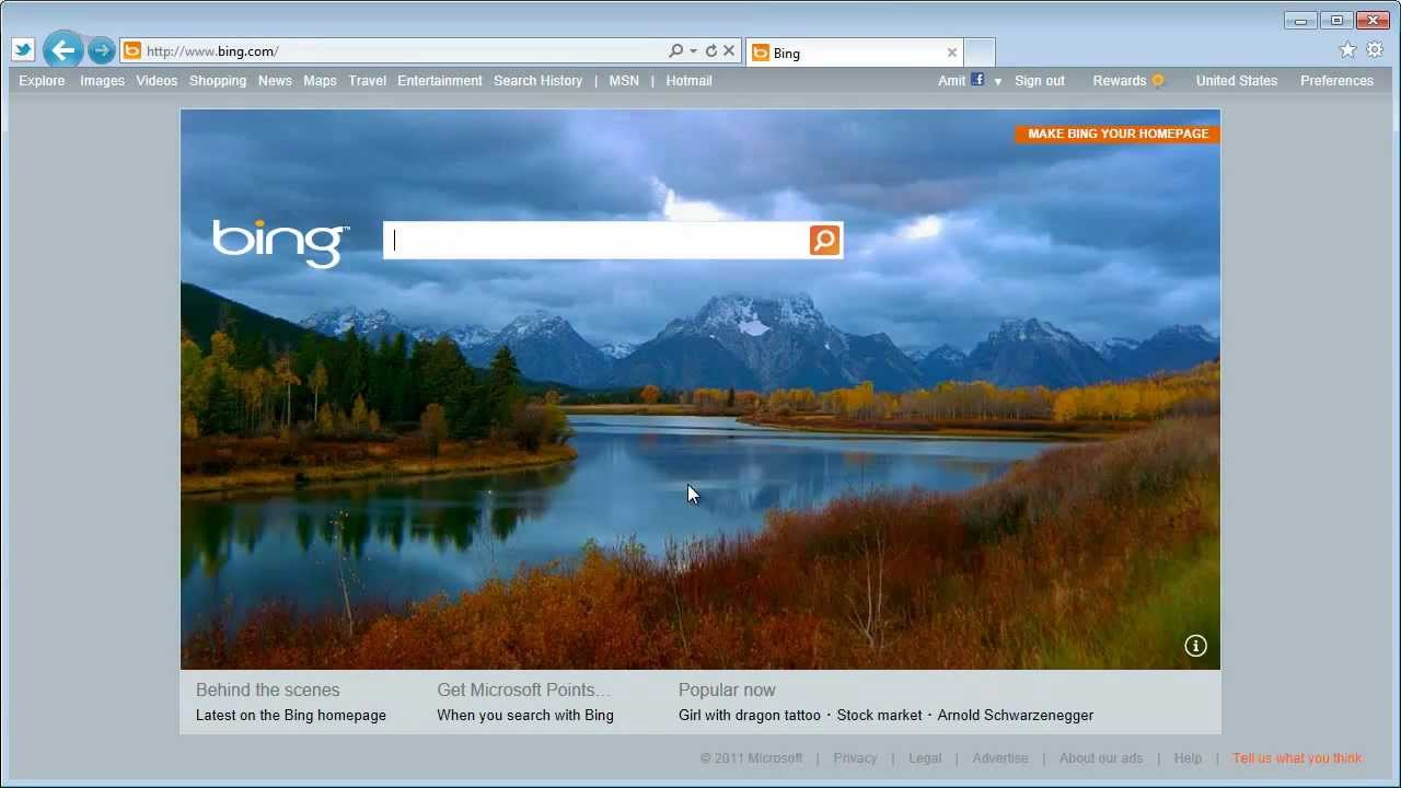 Bing Homepage With Video