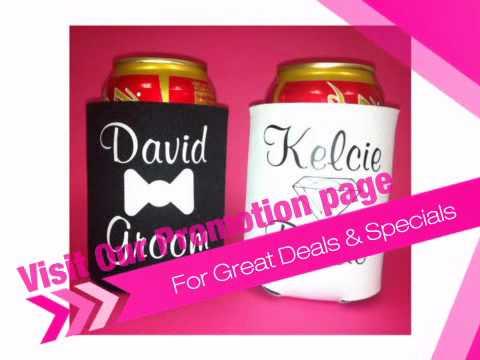Personalized Bride and Groom Koozies - AdvantageBridal.com