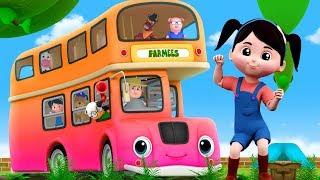 Las ruedas del autobús   Canciones infantiles en español   Wheels on The Bus   canción infantil