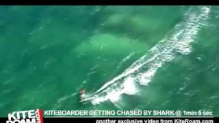 Tiburón persigue a un kiteboarder